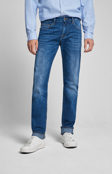 CANDIANI Jeans Mitch in Mid Blue