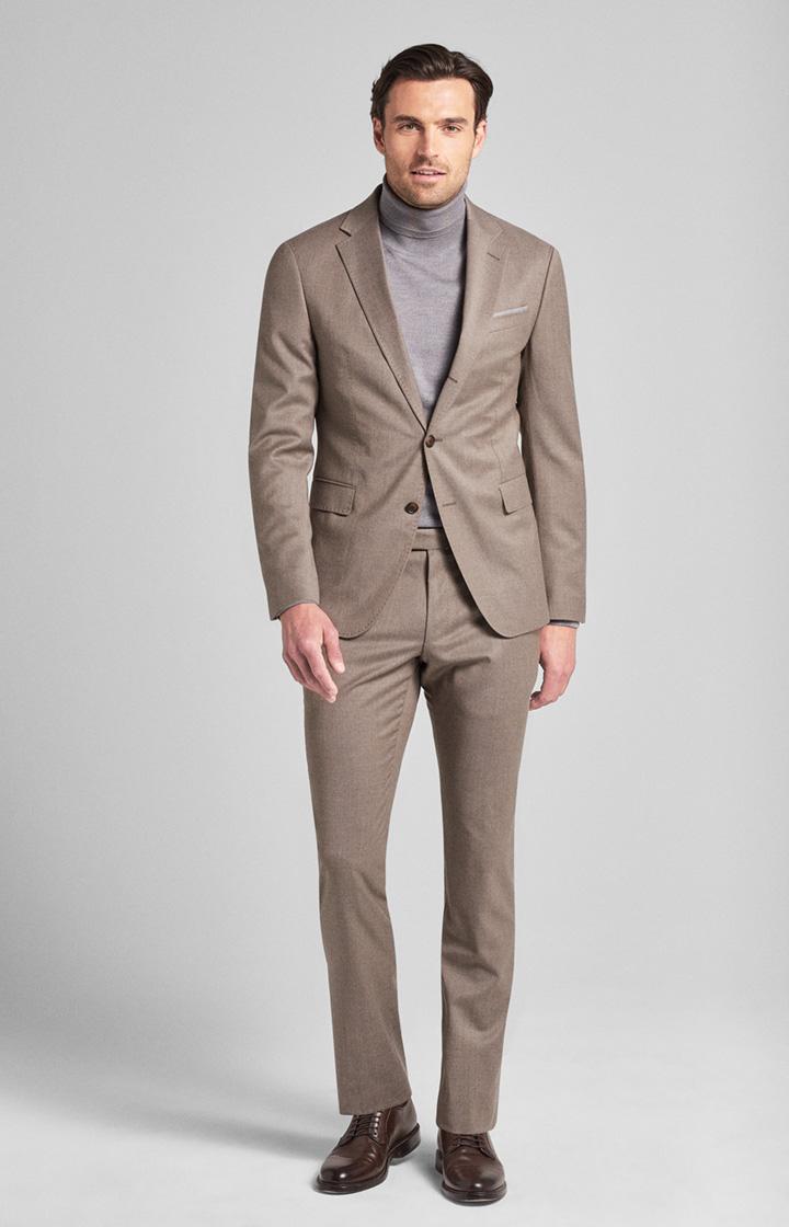 Image of Anzug Haspar-Bloom in Dunkelbeige meliert