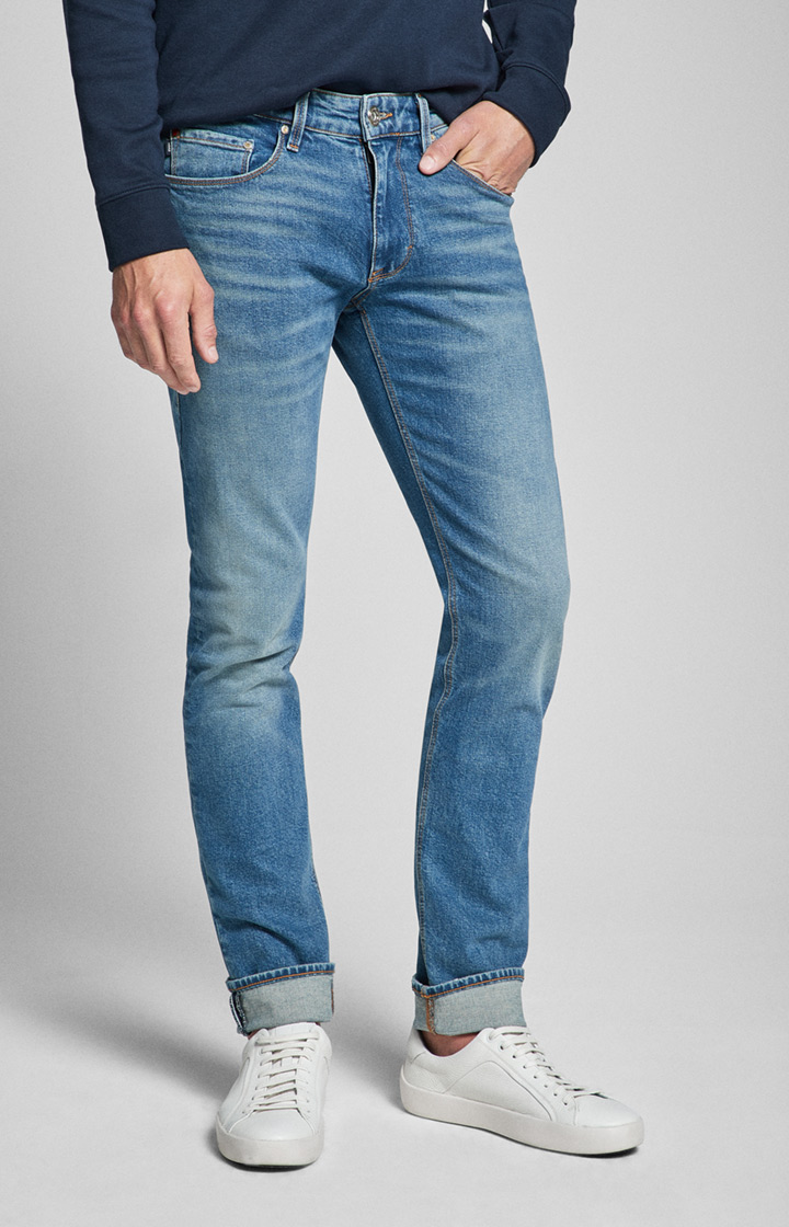 Jeans Stephen in Washed Mittelblau
