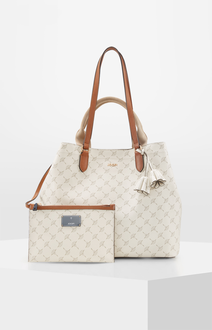 Shopper Cortina Sara in Creme