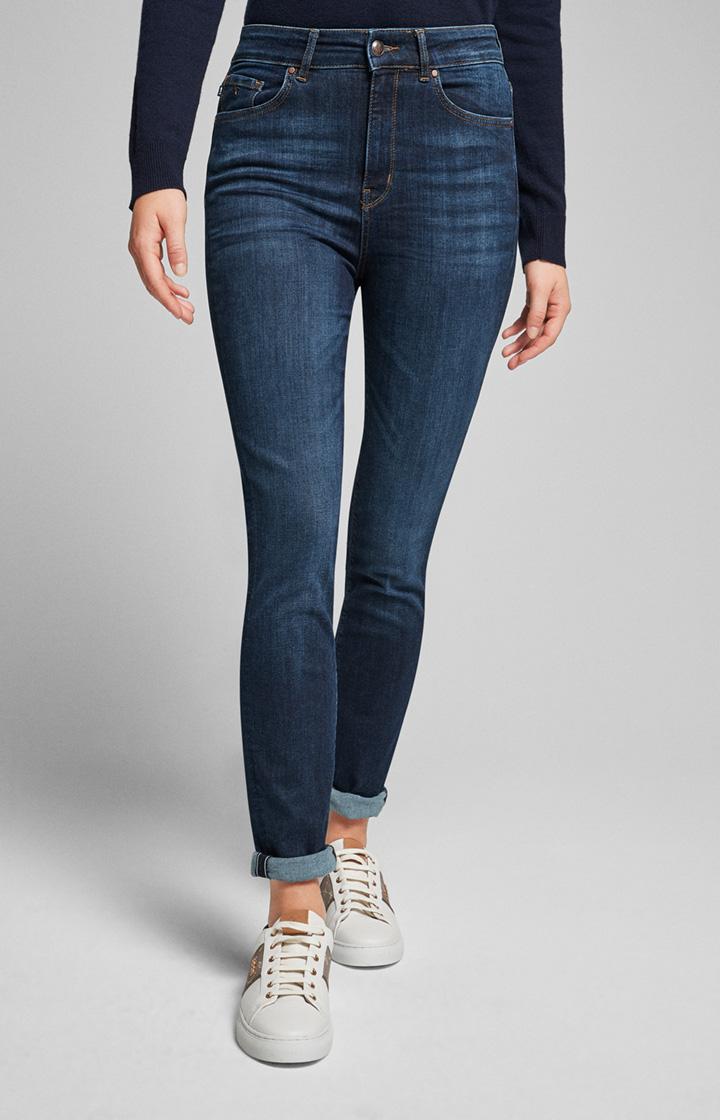 Mega: Highwaist Jeans Siena Dunkelblau
