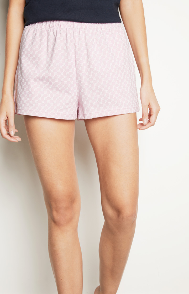 Loungewear Shorts in Rosa gemustert