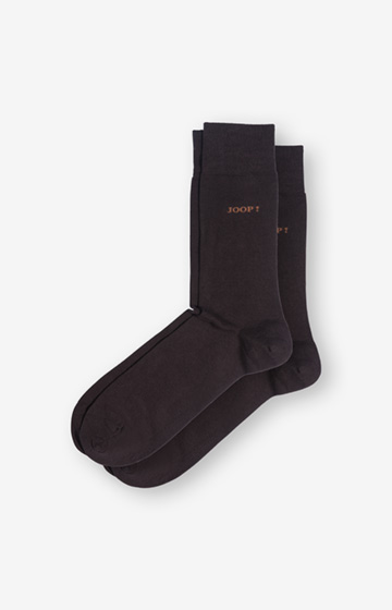 2er-Pack Finest Organic Cotton Socken in Dunkelbraun