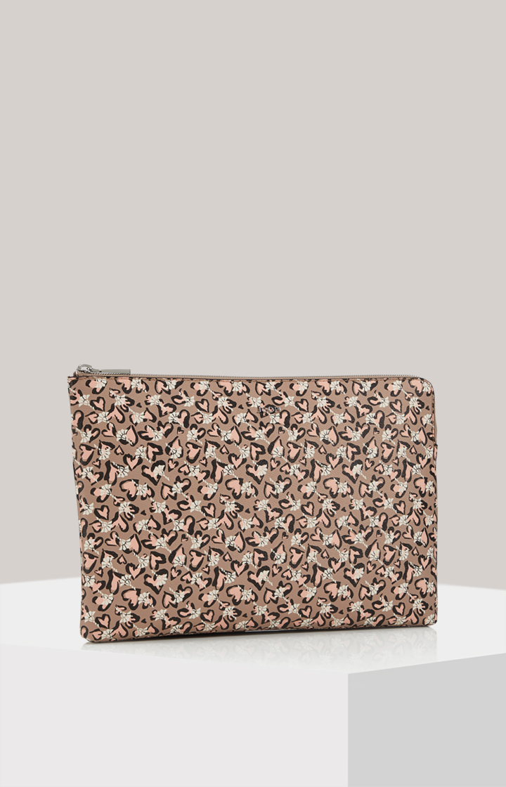 Mittlere Laptop-Clutch-Bag Cortina Amore Geena in Taupe