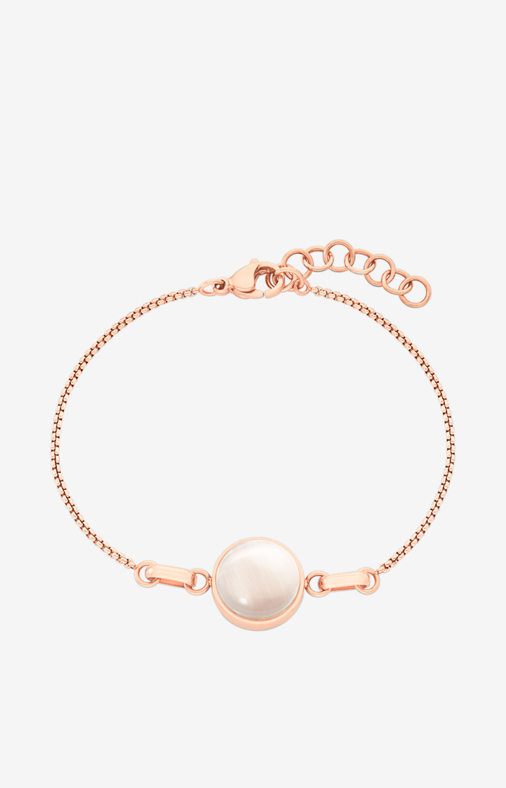 Armband in Roségold/Weiß