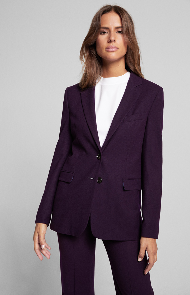 Long-Blazer Jessie in Dark Purple