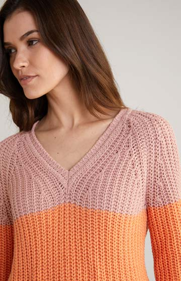 Pullover Kalma in Rosa/Orange/Pink