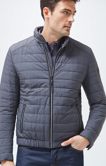 Stepp-Blouson Arex in Grau