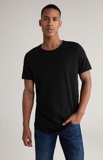 T-Shirt Cliff in Schwarz