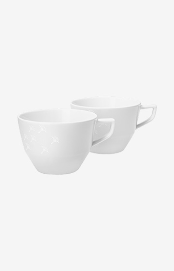 Tasse Faded Cornflower - 2er Set in Weiß