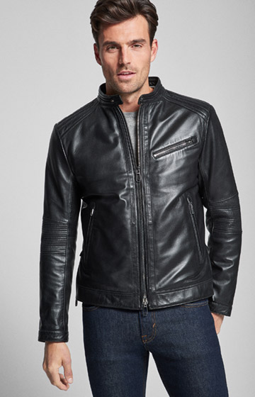 Lederjacke Gregory in Schwarz
