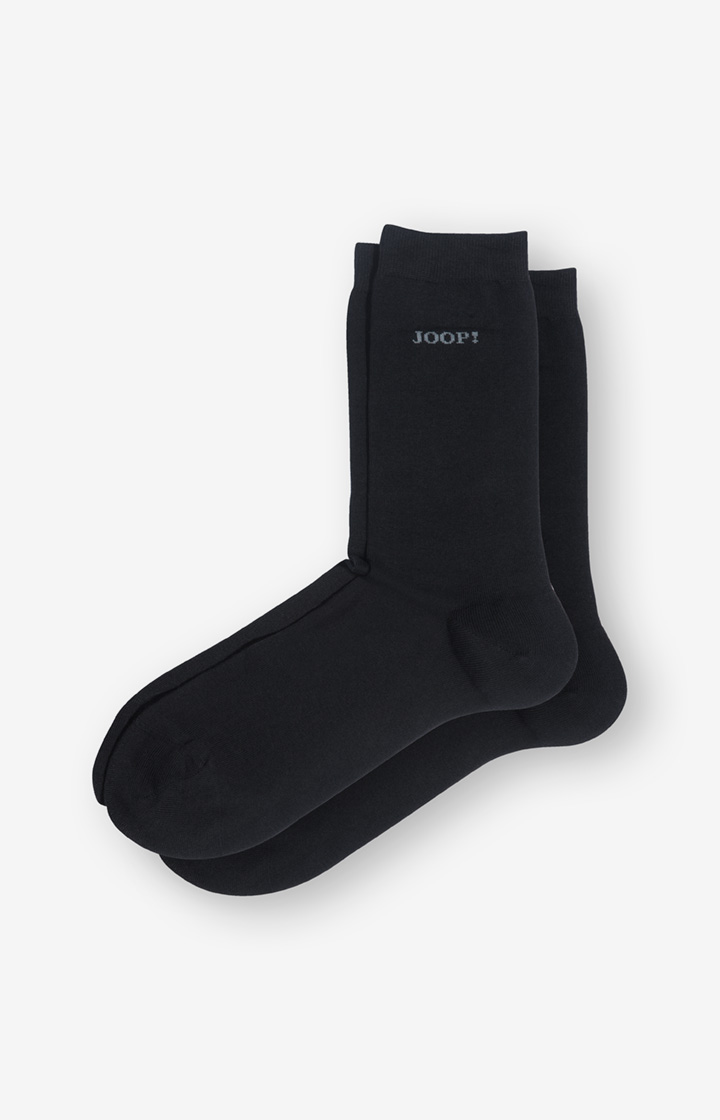 2er-Pack Finest Organic Cotton Socken in Schwarz