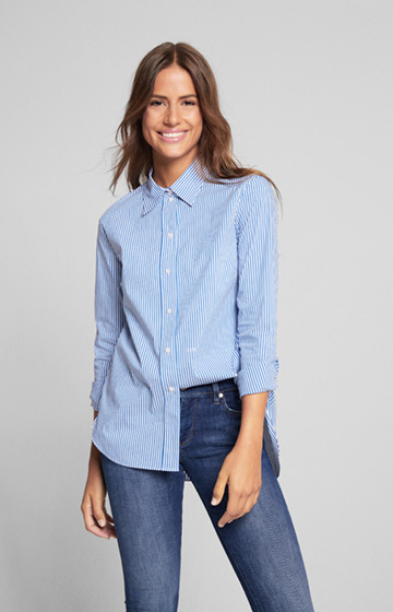 Bluse Benita in Blau gestreift