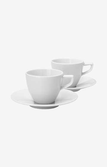 Espressotasse Single Cornflower - 2er Set in Weiß