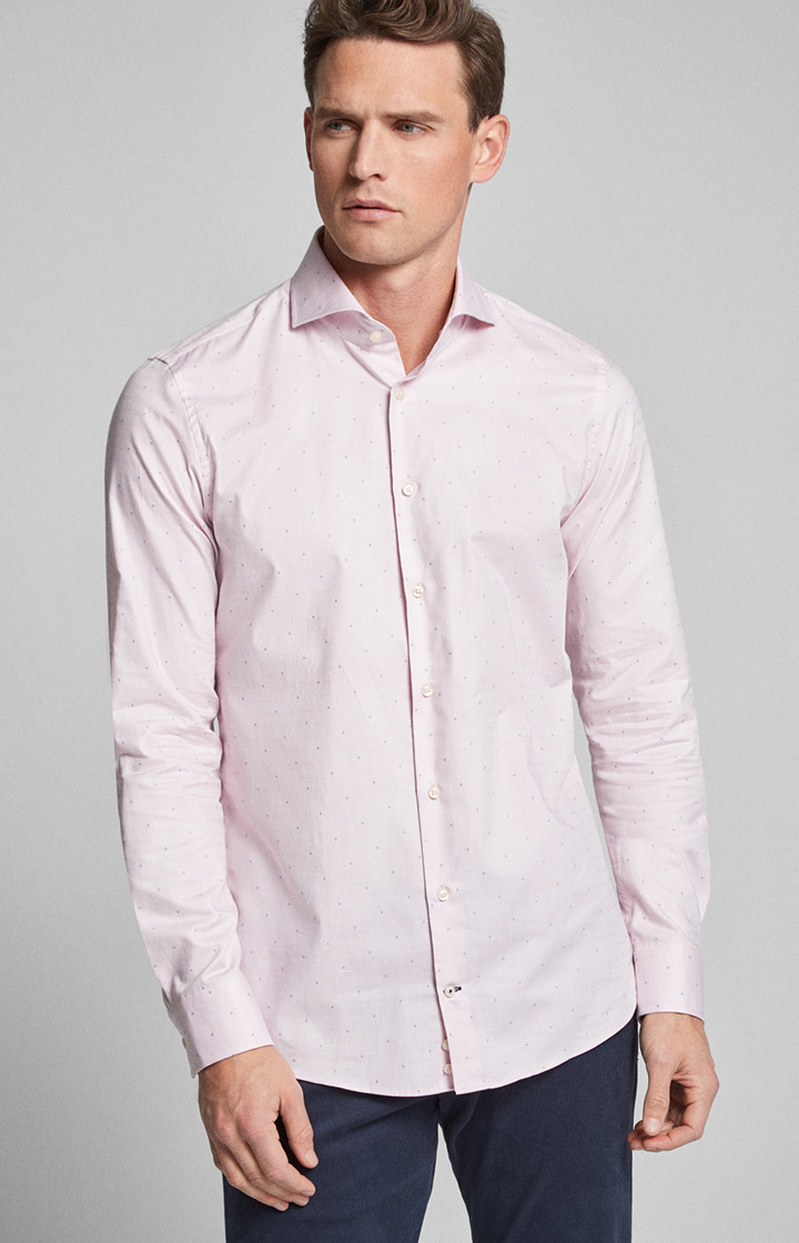 Hemd Pajos-W bügelleicht Rosé gemustert