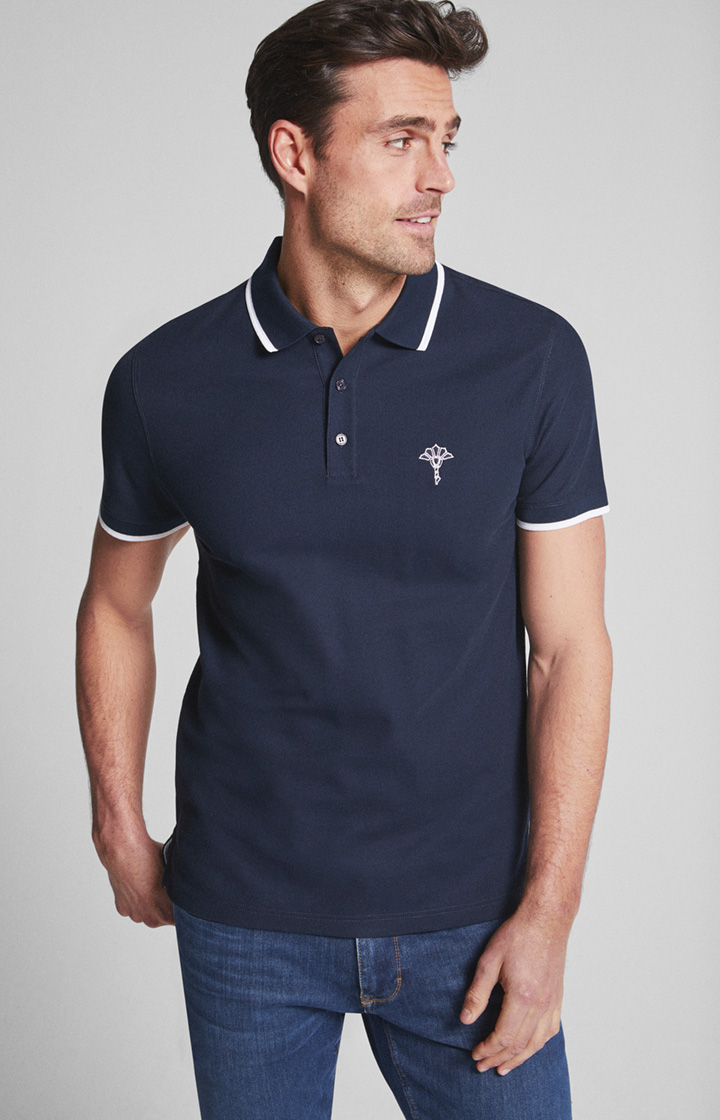 Polo-Shirt Cale in Navy