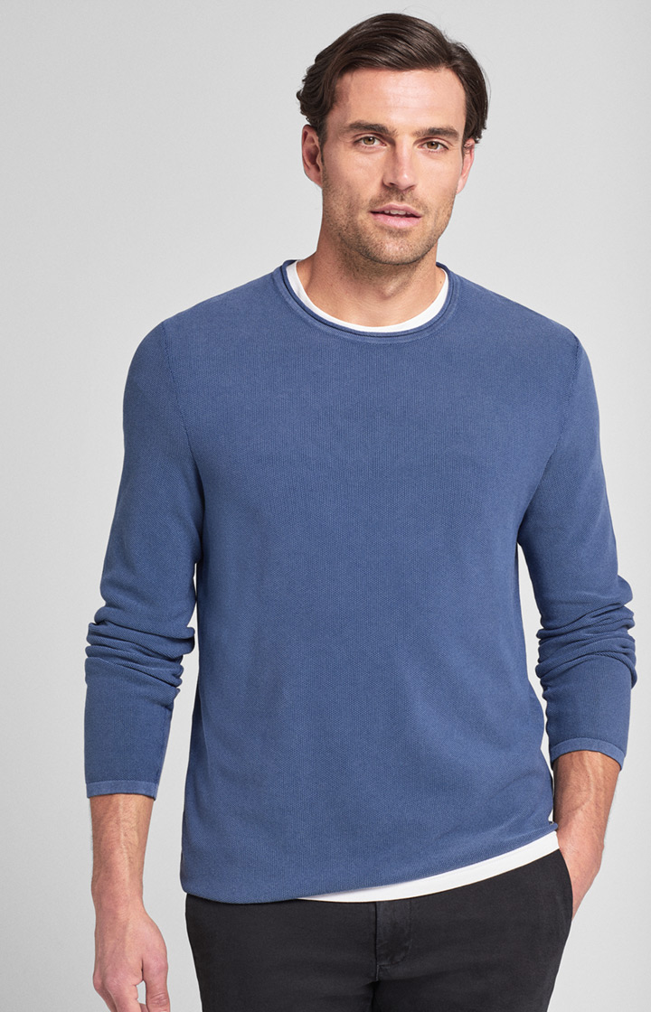 Pullover Fero in Medium Blau