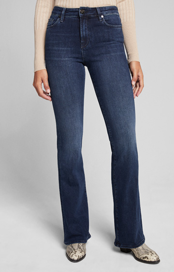 Flared Fit Jeans Sahel in Mittelblau