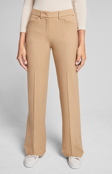 Schurwoll-Stretch-Hose Marike in Medium Beige