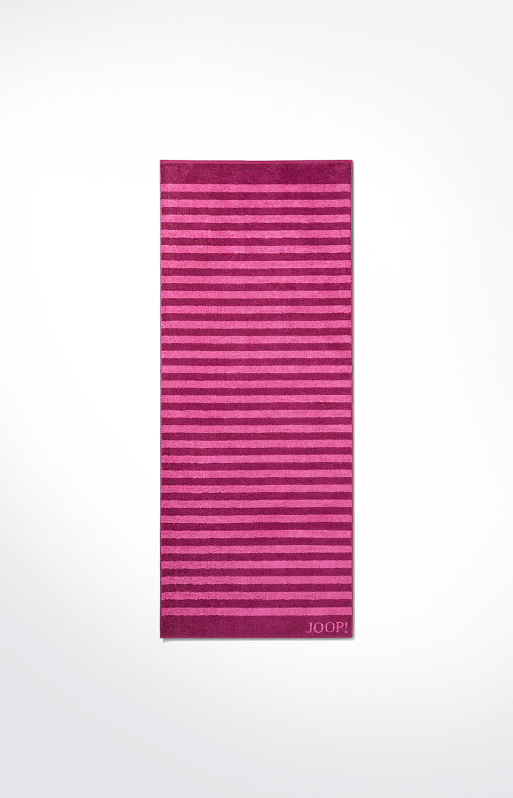 Frottierserie Classic Stripes, Cassis