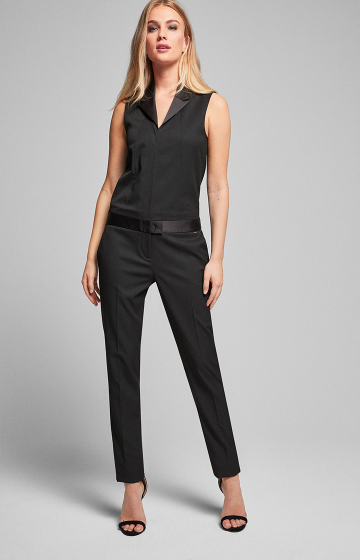Smoking-Jumpsuit Mille in Schwarz