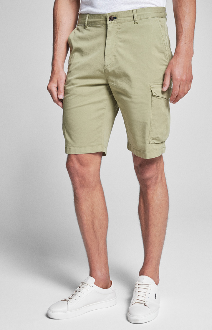 Cargo-Shorts Reed in washed Oliv