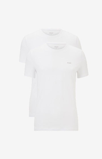 2er-Pack Cotton-Stretch T-Shirts in Weiß