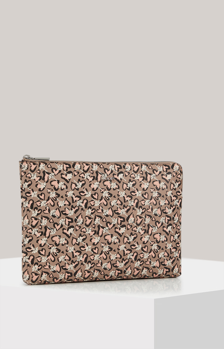 Kleine Laptop-Clutch-Bag Cortina Amore Geena in Taupe