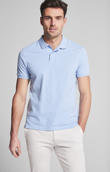 Polo-Shirt Beeke in Hellblau
