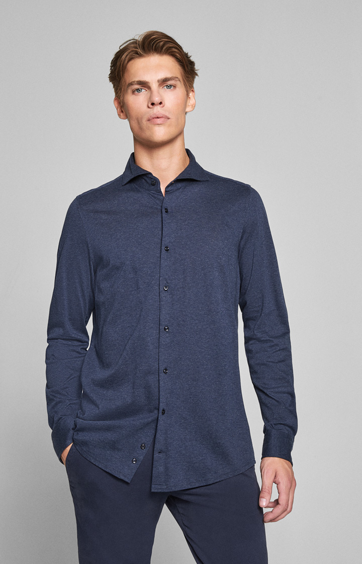 Hemd Pajos - bi-Stretch - in navy