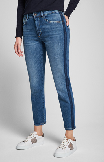 Cropped-Jeans Macy in Washed Blue