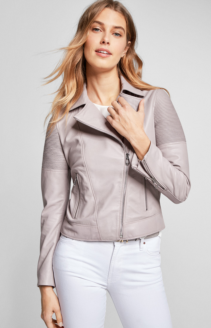 Lederjacke Lina in Rose