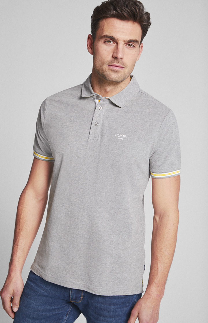 Polo-Shirt Spector in Grau meliert