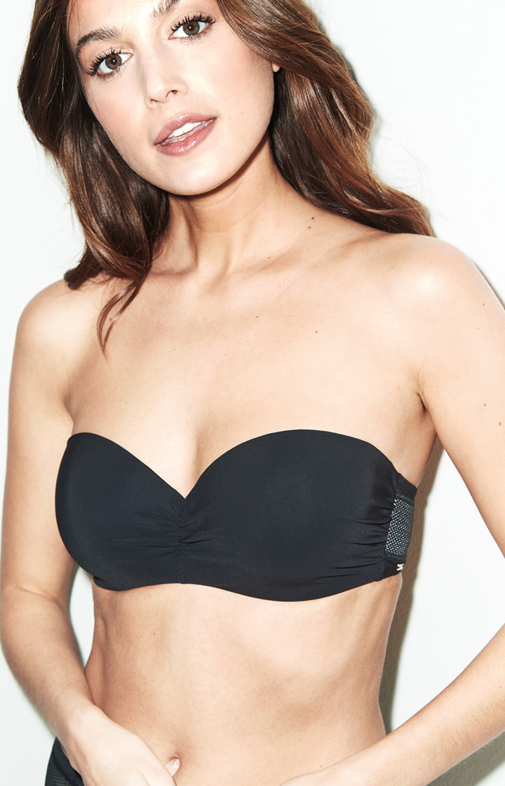 Image of Bandeau-Bikini-Top Durban in Schwarz