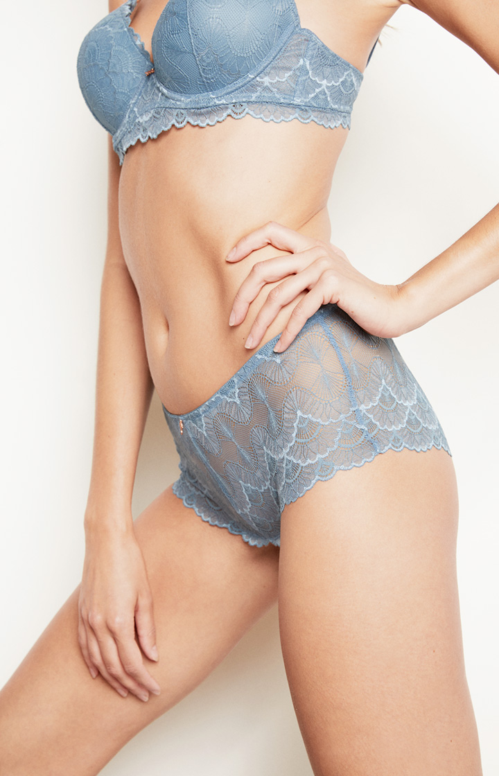 Spitzen-Panty in Medium Blau