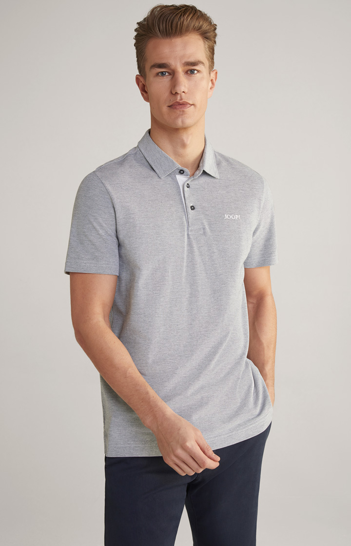 Poloshirt Percy in Pastell-Navy-Hellgrau