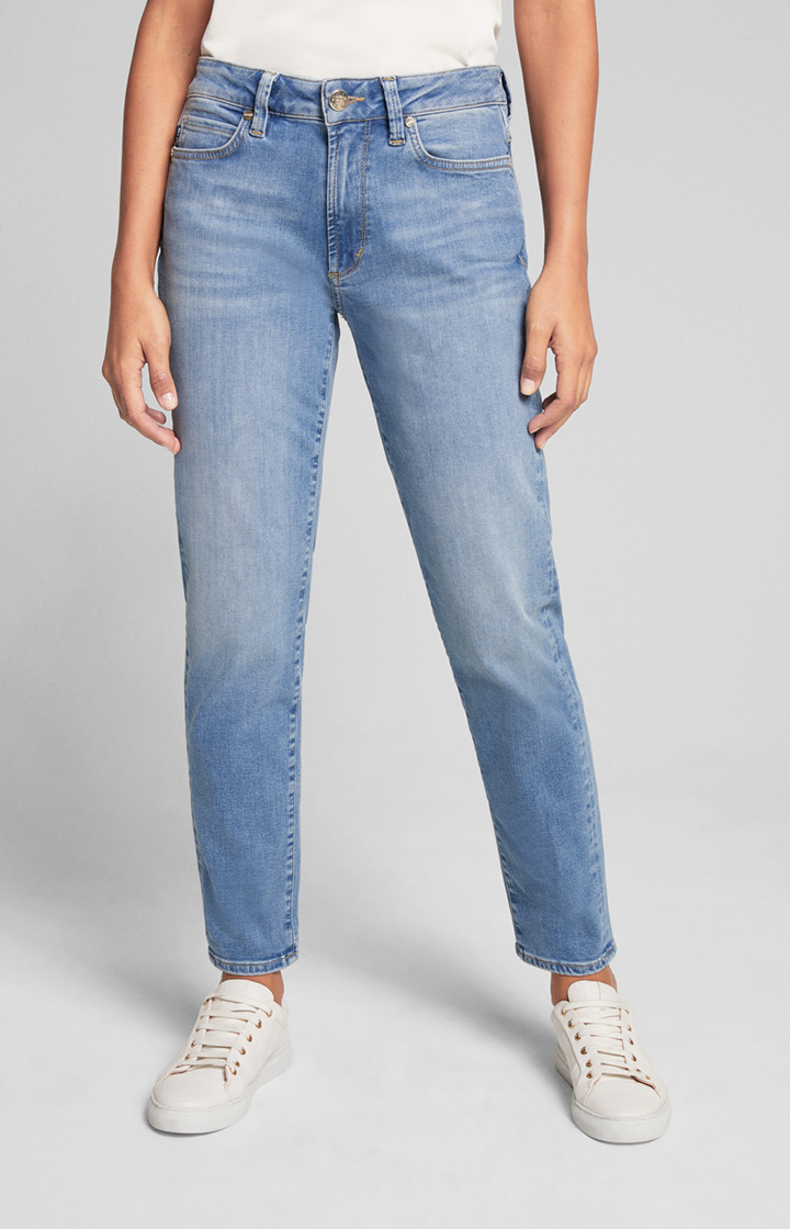 Slim Fit Taperd Jeans Shari in Soft Denim Blau