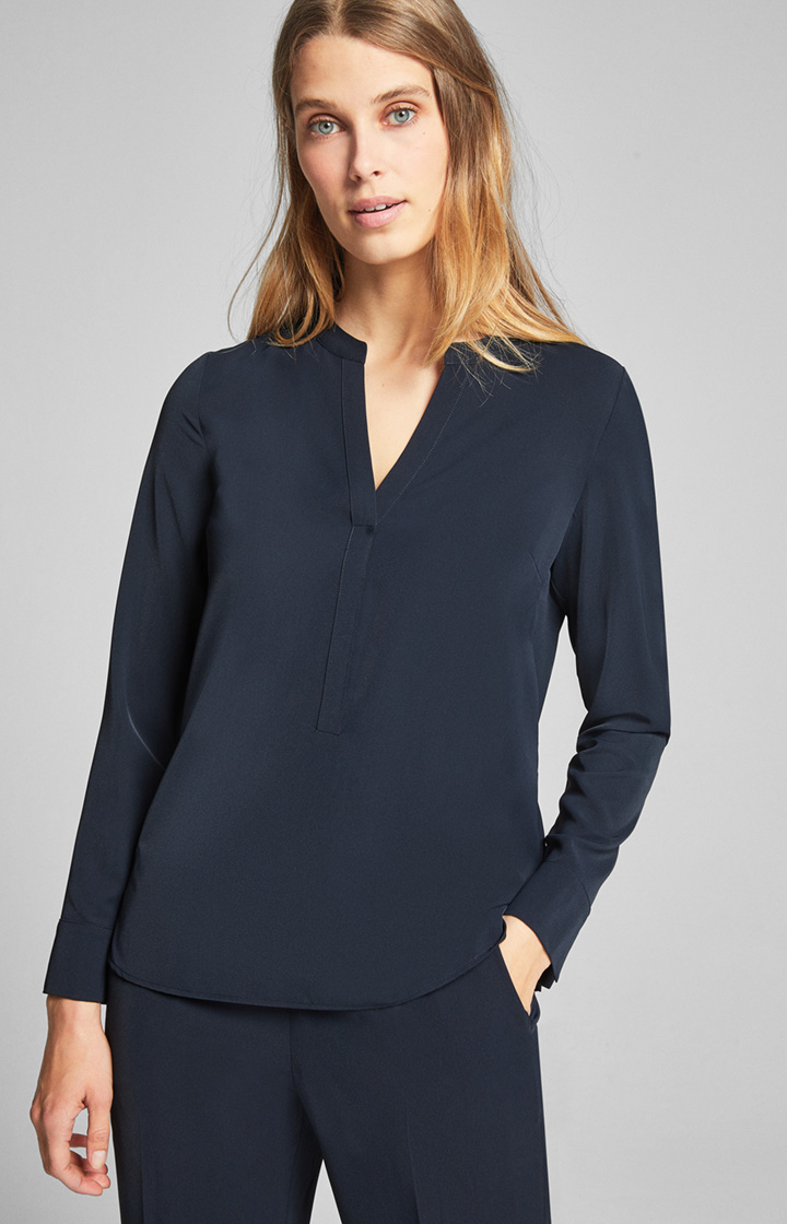 Bluse Belah in Navy
