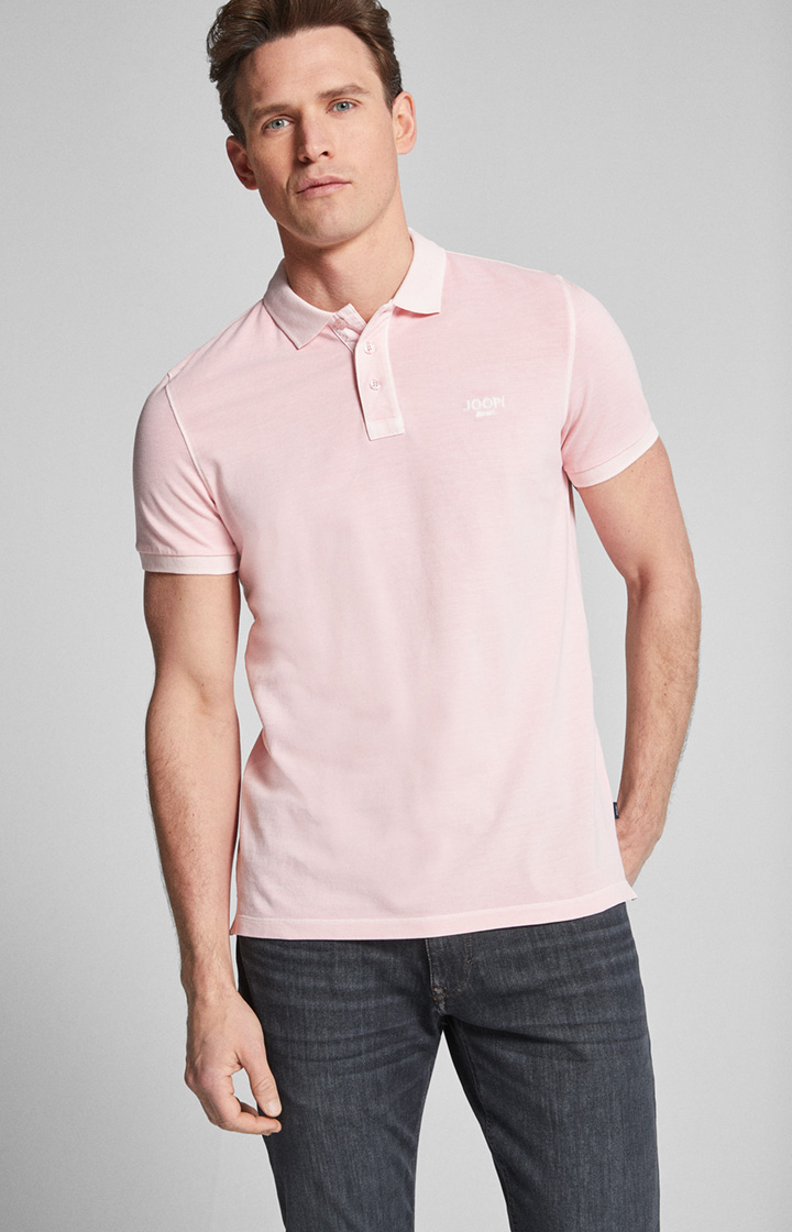 Polo-Shirt Ambrosio in Pastell-Rosa