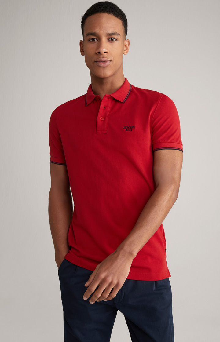Poloshirt Agnello in Rot