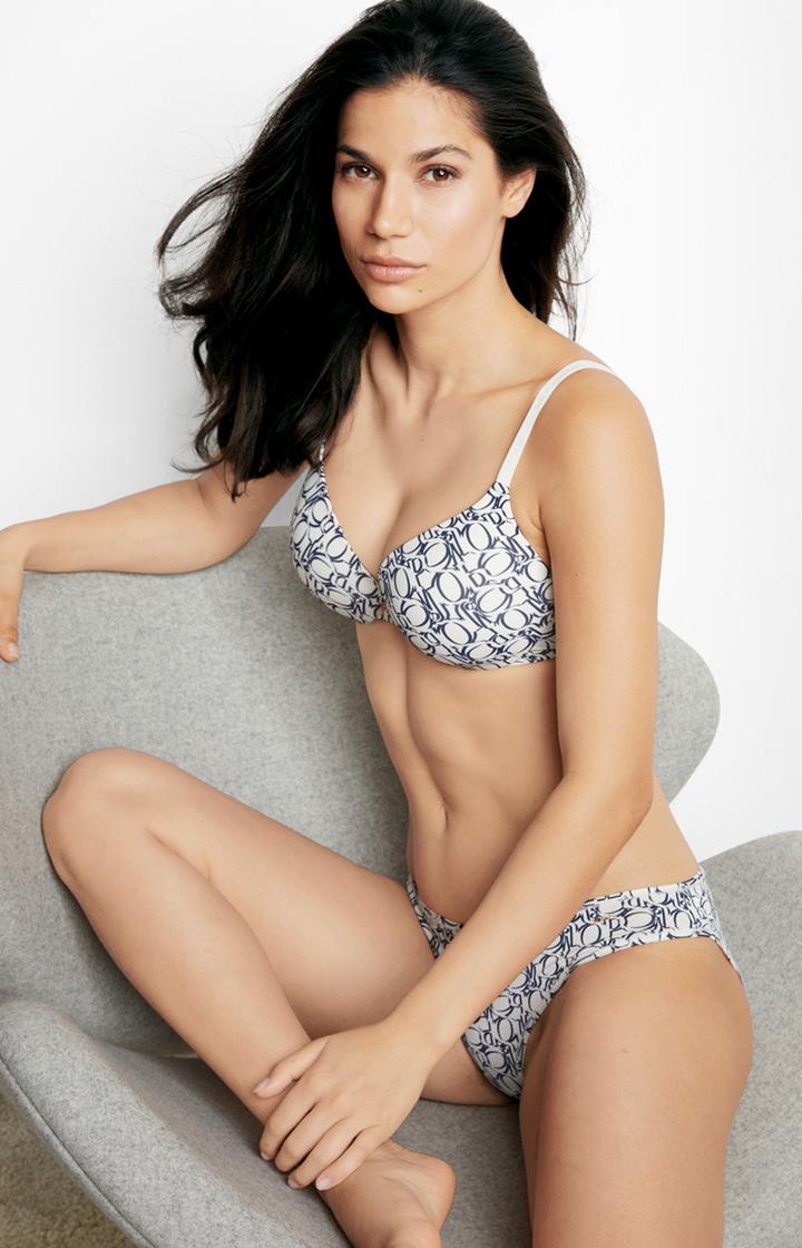 Image of Bikini-Slip in Weiß/Blau