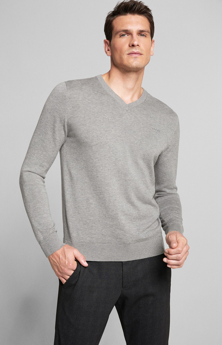 Pullover Barry in Grau meliert