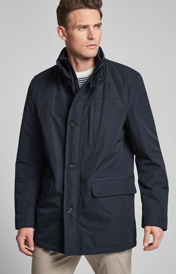 Wattierter Mantel Dannie in Dark Navy