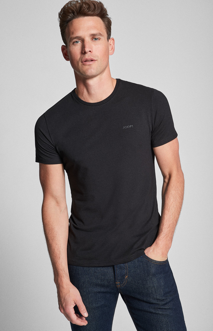 2er-Pack Modal Cotton Stretch Shirts in Schwarz