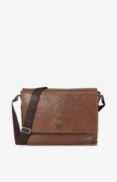Messenger-Bag Kimon in Dunkelbraun