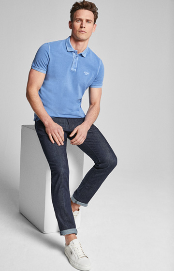 Polo-Shirt Ambrosio in Pastellblau