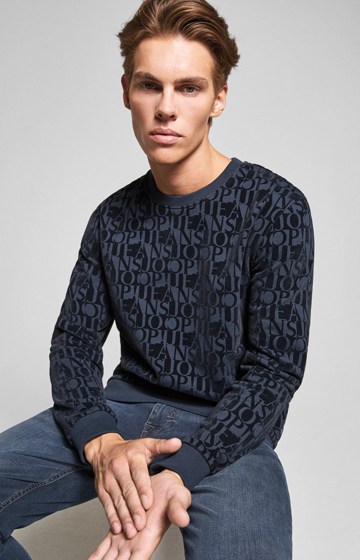 Sweatshirt Aaron in Navy