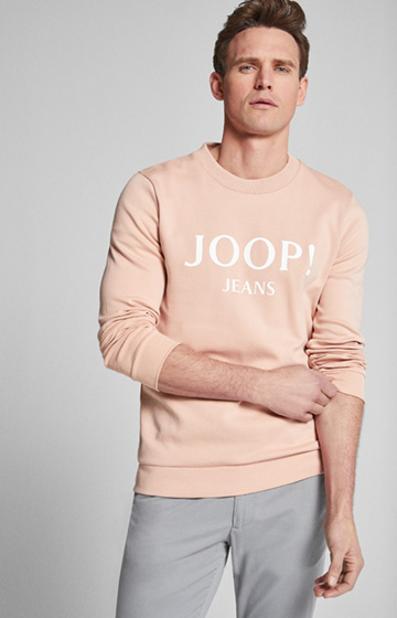 Sweatshirt Alfred in Pastell-Pink