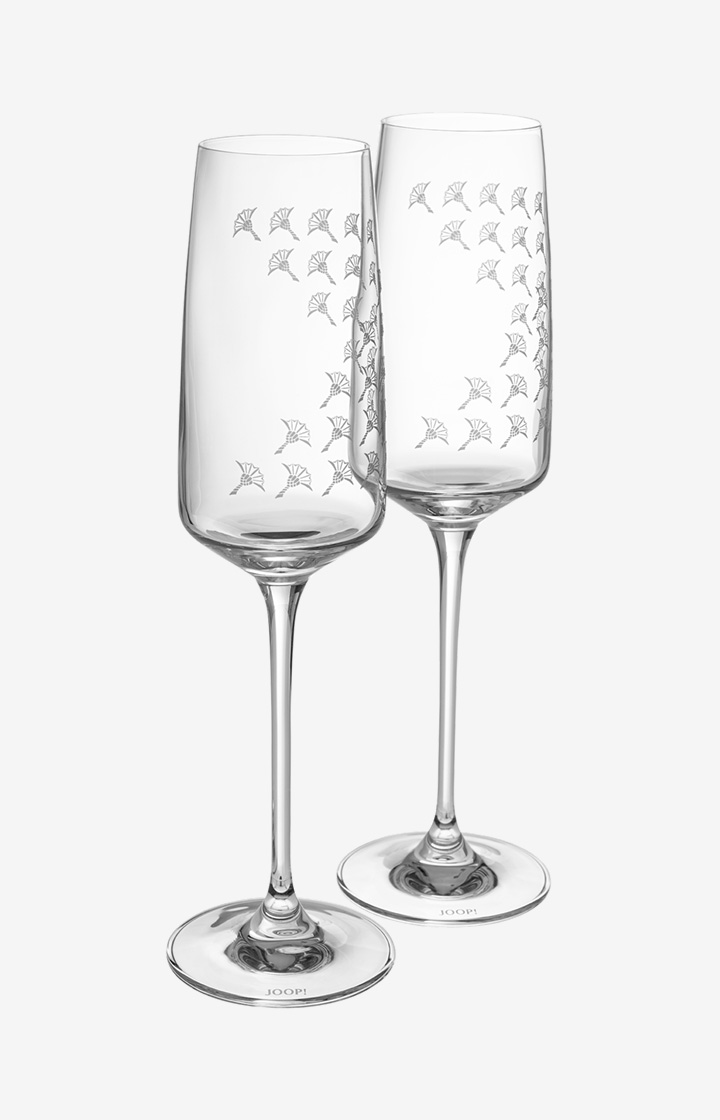 Champagnerglas Faded Cornflower - 2er Set